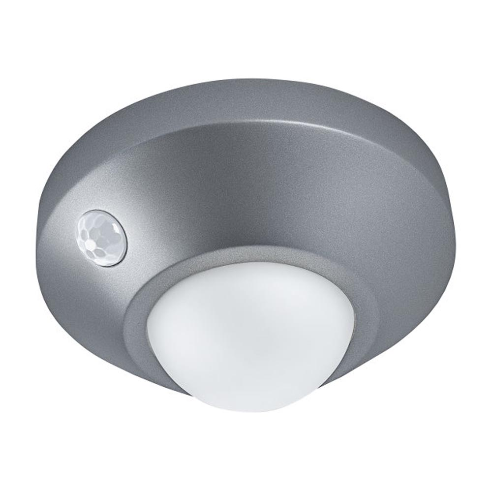 LED Nightlux Battery Powered Ceilling Light with Sensor Silver