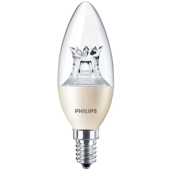 Philips LED Candle 8W SES Clear Very Warm White DimTone